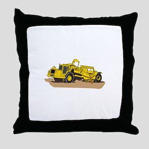 Scraper Truck Throw Pillow