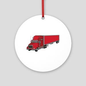 Semi-Truck 1 Ornament (Round)