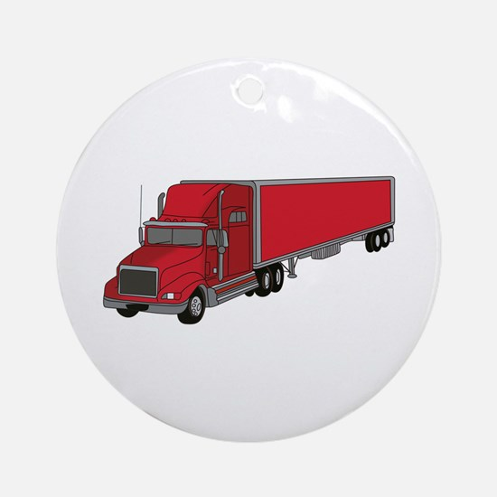Semi-Truck 1 Ornament (Round)