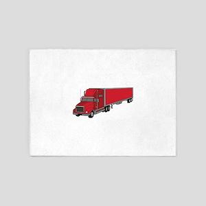 Semi-Truck 1 5'x7'Area Rug
