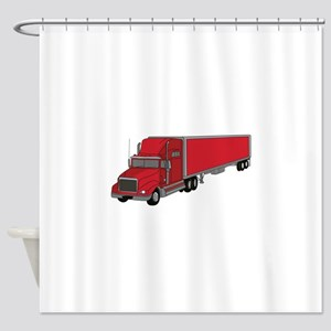 Semi-Truck 1 Shower Curtain