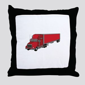 Semi-Truck 1 Throw Pillow