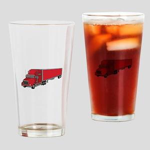Semi-Truck 1 Drinking Glass