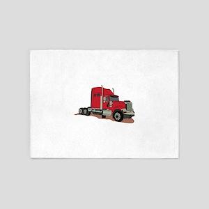 Semi Truck 5'x7'Area Rug