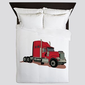 Semi Truck Queen Duvet