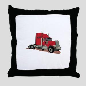 Semi Truck Throw Pillow