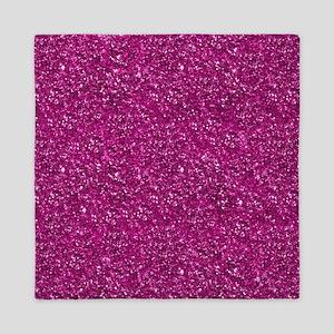 Magenta Pink Glitter Queen Duvet