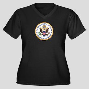 Diplomatic Security Women's Plus Size V-Neck Dark