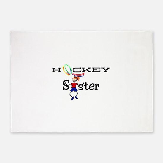 Hockey Sister 5'x7'Area Rug