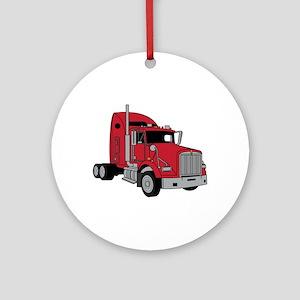 Kenworth Tractor Ornament (Round)