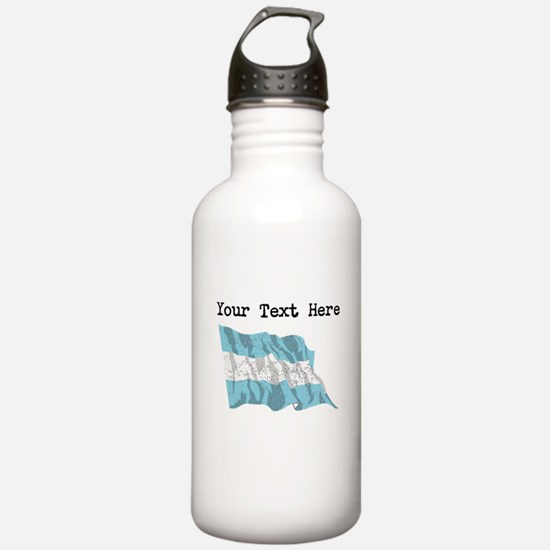 Argentina Flag (Distressed) Water Bottle