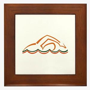 Swimmer Framed Tile