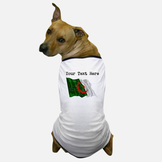 Algeria Flag (Distressed) Dog T-Shirt