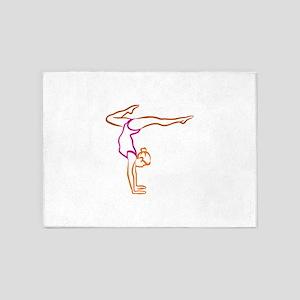 Female Gymnast 5'x7'Area Rug