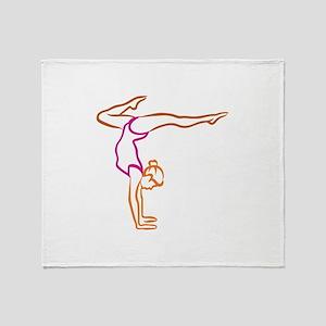 Female Gymnast Throw Blanket