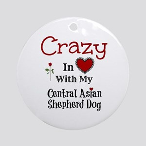 Central Asian Shepherd Dog Ornament (Round)