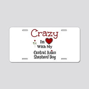 Central Asian Shepherd Dog Aluminum License Plate