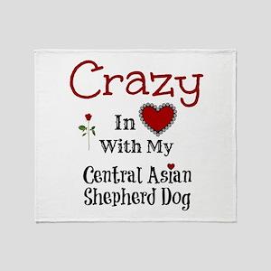 Central Asian Shepherd Dog Throw Blanket