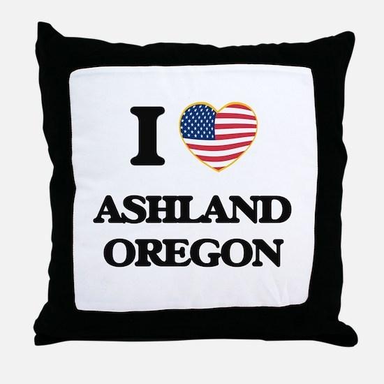 I love Ashland Oregon Throw Pillow