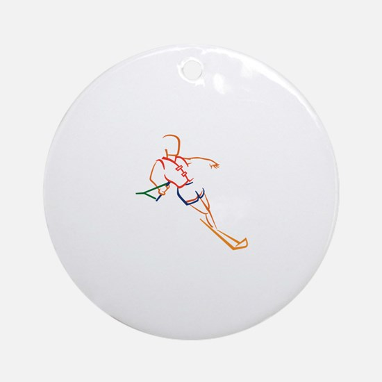 Water Skiing Ornament (Round)