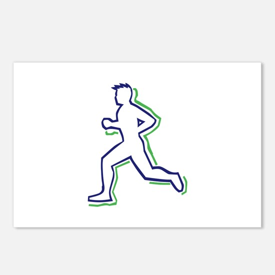 Runner Outline Postcards (Package of 8)