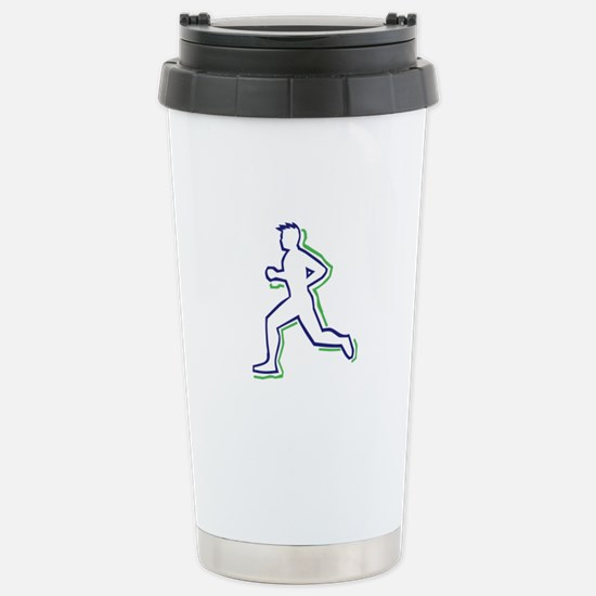 Runner Outline Travel Mug
