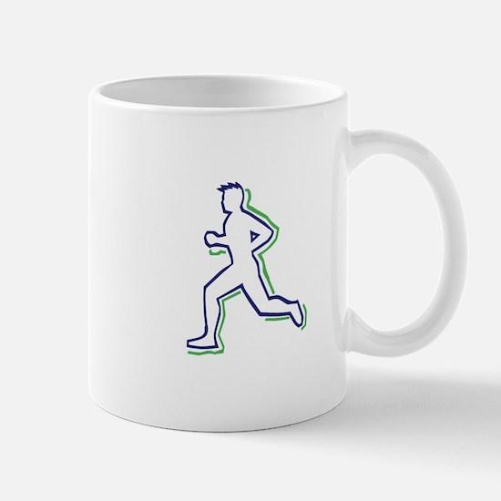 Runner Outline Mugs