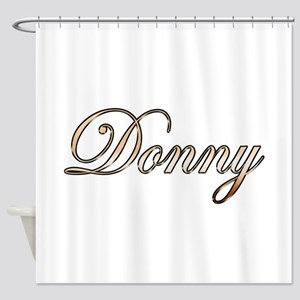 Gold Donny Shower Curtain