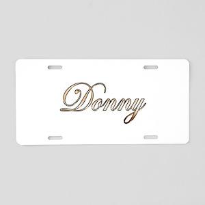 Gold Donny Aluminum License Plate