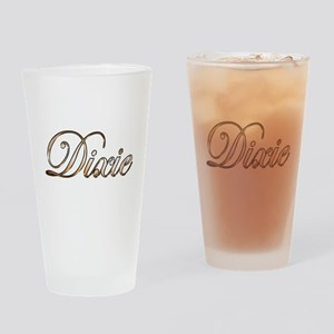 Gold Dixie Drinking Glass