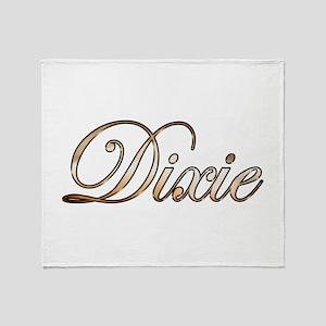 Gold Dixie Throw Blanket