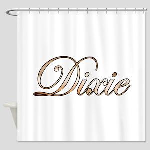 Gold Dixie Shower Curtain