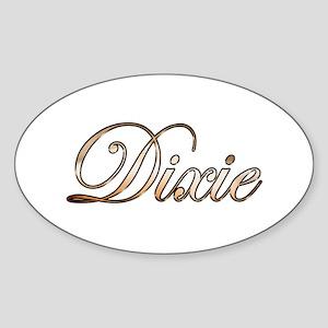 Gold Dixie Sticker