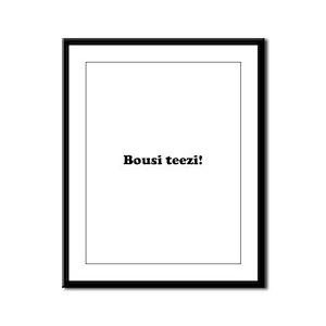 Bousi Teezi Framed Panel Print