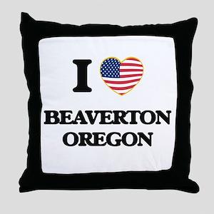 I love Beaverton Oregon Throw Pillow