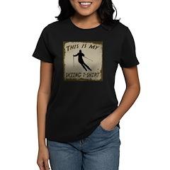 My Skiing T-Shirt Women's Dark T-Shirt