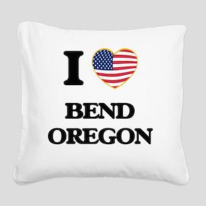 I love Bend Oregon Square Canvas Pillow