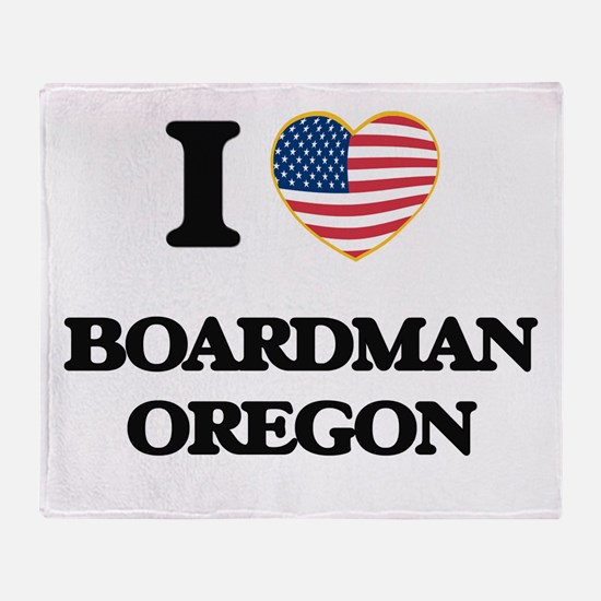 I love Boardman Oregon Throw Blanket
