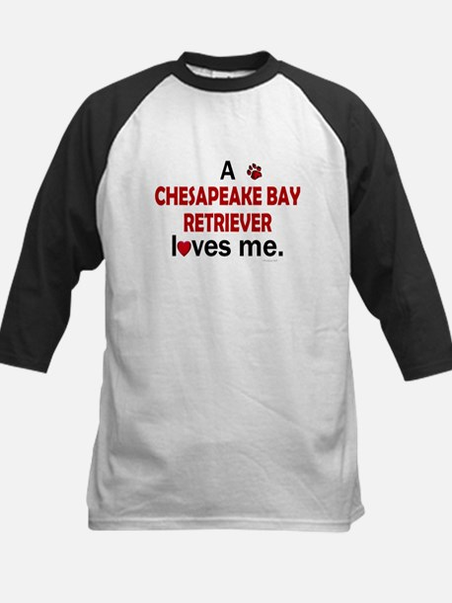 A Chesapeake Loves Me Kids Baseball Jersey