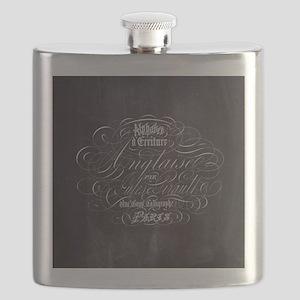vintage french scripts paris Flask