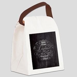 vintage french scripts paris Canvas Lunch Bag