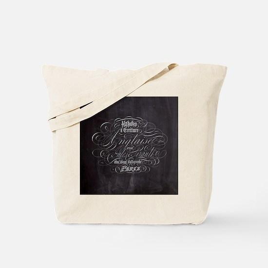 vintage french scripts paris Tote Bag