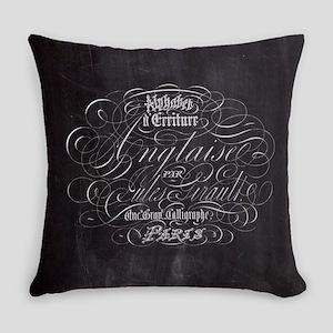 vintage french scripts paris Everyday Pillow