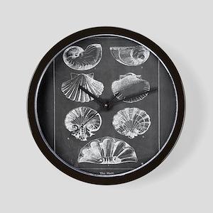 rustic vintage seashells Wall Clock
