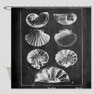 rustic vintage seashells Shower Curtain