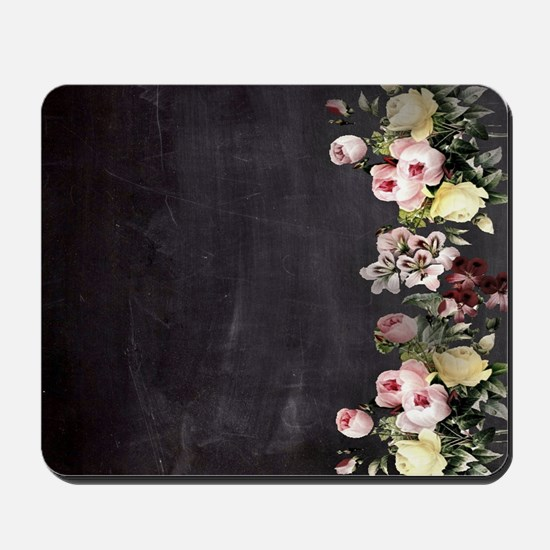 shabby chic flowers Mousepad