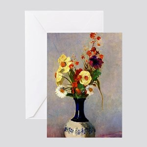 Odilon Redon - Flowers in a Vase, 19 Greeting Card