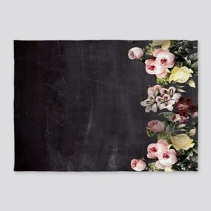 shabby chic flowers 5'x7'Area Rug