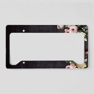shabby chic flowers License Plate Holder