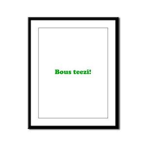 Bous Teezi Framed Panel Print